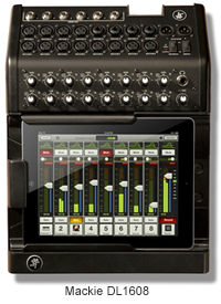 Mackie DL1608 - iPad Integrated Music Production Hardware